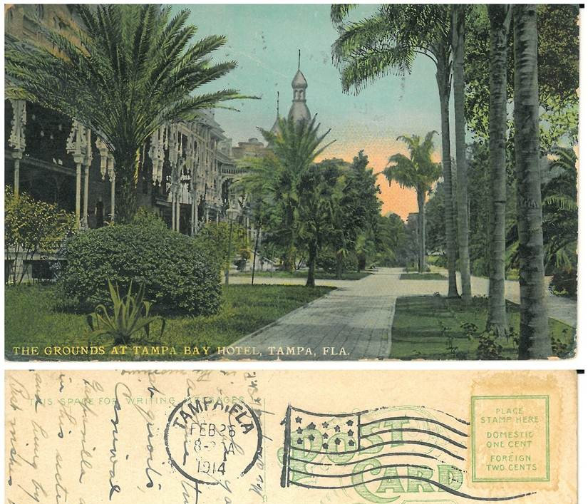 Tampa Bay Hotel Grounds 1914